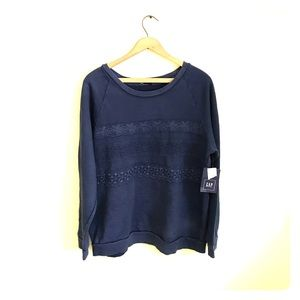 NWT! GAP Lace detailed crew neck sweater!